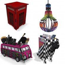 Dica de loja com objetos de decoraçao criativos