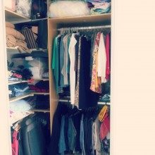 Leitora do blog transformou o guarda-roupa em closet