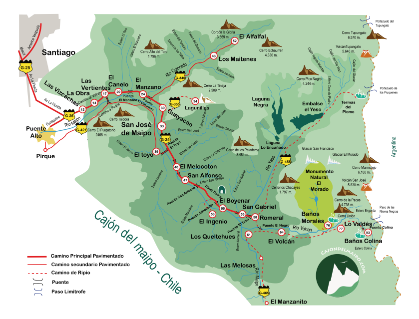 mapa_cajón del maipo